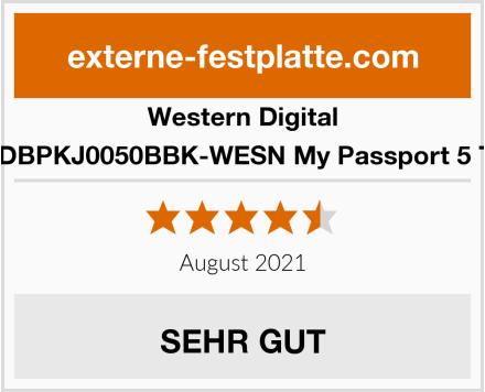 Western Digital WDBPKJ0050BBK-WESN My Passport 5 TB Test