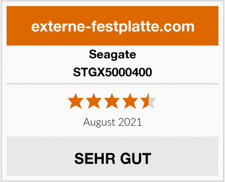 Seagate STGX5000400 Test