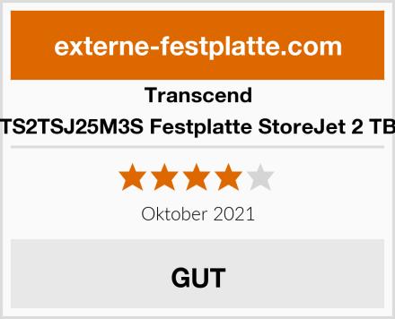 Transcend TS2TSJ25M3S Festplatte StoreJet 2 TB Test
