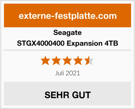 Seagate STGX4000400 Expansion 4TB Test