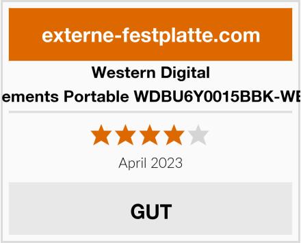 Western Digital Elements Portable WDBU6Y0015BBK-WES Test