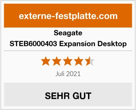 Seagate STEB6000403 Expansion Desktop Test