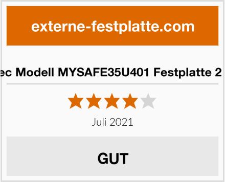 i-tec Modell MYSAFE35U401 Festplatte 2 TB Test