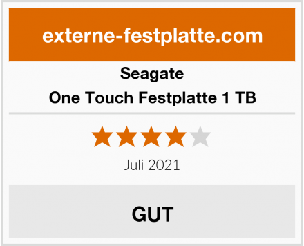 Seagate One Touch Festplatte 1 TB Test