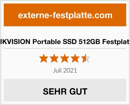 HIKVISION Portable SSD 512GB Festplatte Test