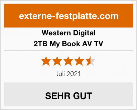 Western Digital 2TB My Book AV TV Test