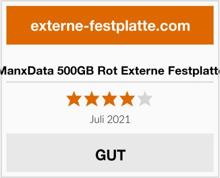 ManxData 500GB Rot Externe Festplatte Test
