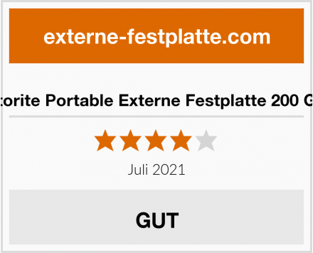 Storite Portable Externe Festplatte 200 GB Test