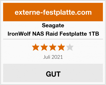 Seagate IronWolf NAS Raid Festplatte 1TB Test