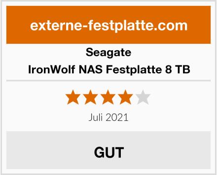 Seagate IronWolf NAS Festplatte 8 TB Test