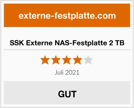 SSK Externe NAS-Festplatte 2 TB Test