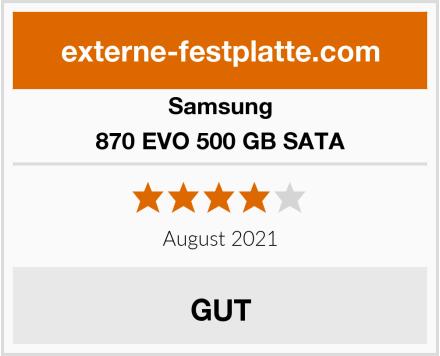 Samsung 870 EVO 500 GB SATA Test