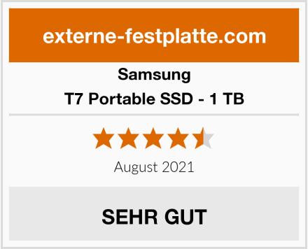 Samsung T7 Portable SSD - 1 TB Test