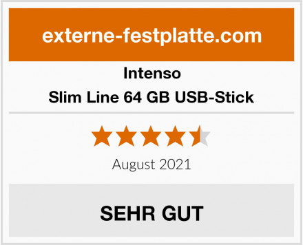 Intenso Slim Line 64 GB USB-Stick Test