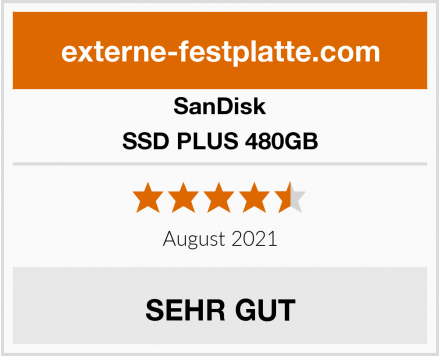 SanDisk SSD PLUS 480GB Test