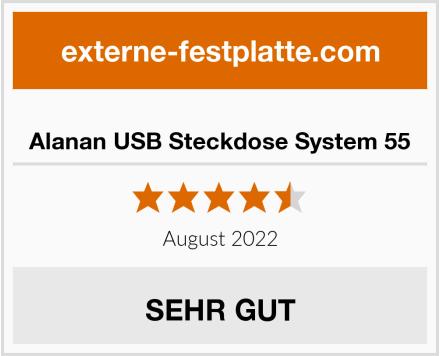 Alanan USB Steckdose System 55 Test