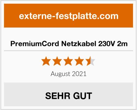 PremiumCord Netzkabel 230V 2m Test