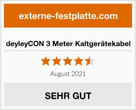 deyleyCON 3 Meter Kaltgerätekabel Test