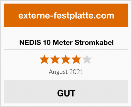 NEDIS 10 Meter Stromkabel Test