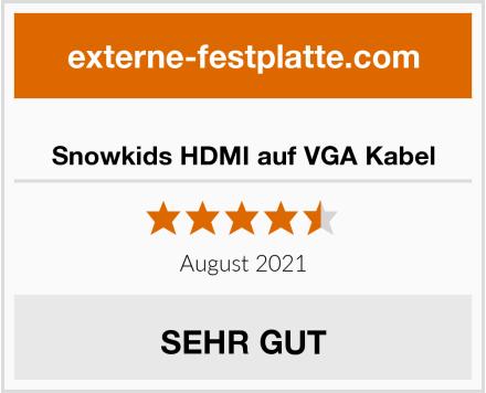 Snowkids HDMI auf VGA Kabel Test