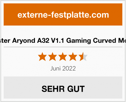 Monster Aryond A32 V1.1 Gaming Curved Monitor Test