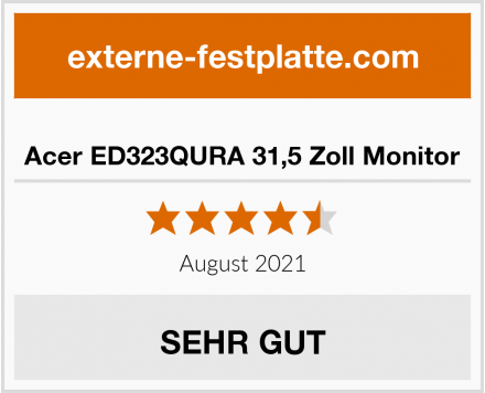 Acer ED323QURA 31,5 Zoll Monitor Test
