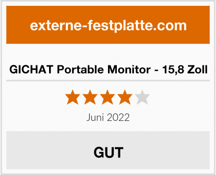 GICHAT Portable Monitor - 15,8 Zoll Test