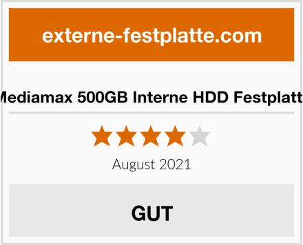 Mediamax 500GB Interne HDD Festplatte Test