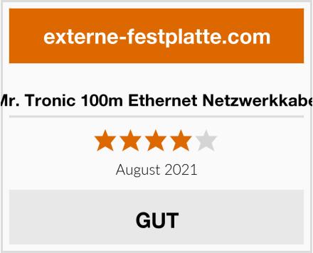 Mr. Tronic 100m Ethernet Netzwerkkabel Test