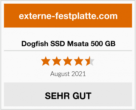 Dogfish SSD Msata 500 GB Test