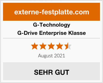 G-Technology G-Drive Enterprise Klasse Test