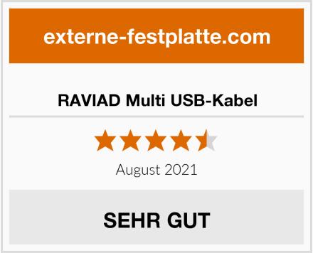 RAVIAD Multi USB-Kabel Test