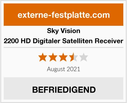 Sky Vision 2200 HD Digitaler Satelliten Receiver Test