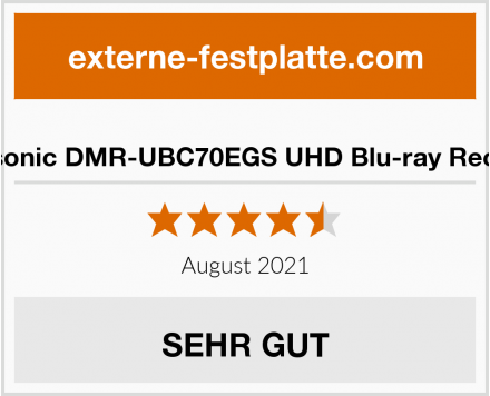 Panasonic DMR-UBC70EGS UHD Blu-ray Recorder Test