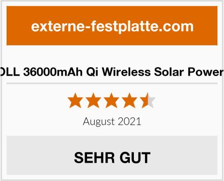 DJROLL 36000mAh Qi Wireless Solar Powerbank Test