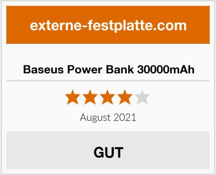 Baseus Power Bank 30000mAh Test