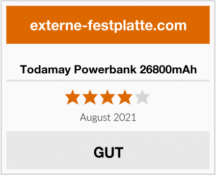 Todamay Powerbank 26800mAh Test