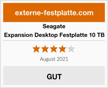 Seagate Expansion Desktop Festplatte 10 TB Test