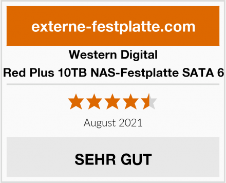 Western Digital Red Plus 10TB NAS-Festplatte SATA 6 Test