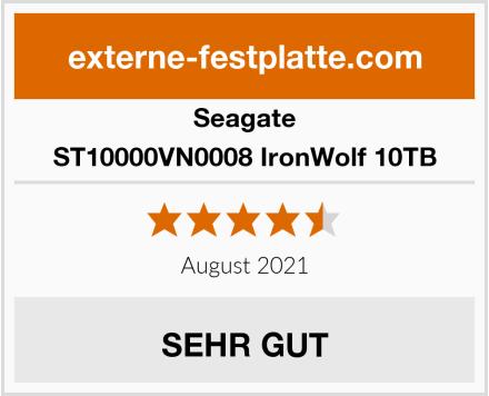 Seagate ST10000VN0008 IronWolf 10TB Test
