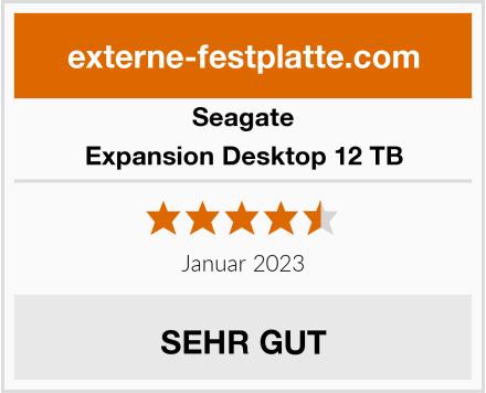 Seagate Expansion Desktop 12 TB Test