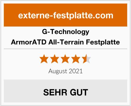 G-Technology ArmorATD All-Terrain Festplatte Test
