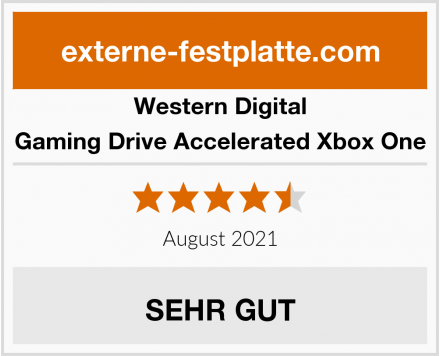 Western Digital Gaming Drive Accelerated Xbox One Test