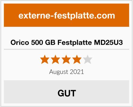 Orico 500 GB Festplatte MD25U3 Test