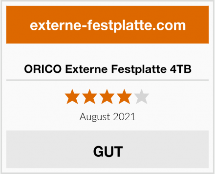 ORICO Externe Festplatte 4TB Test