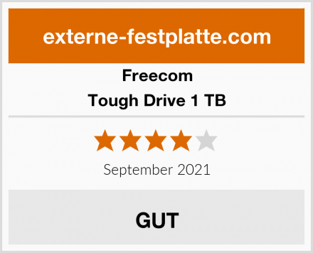 Freecom Tough Drive 1 TB Test