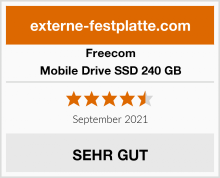 Freecom Mobile Drive SSD 240 GB Test