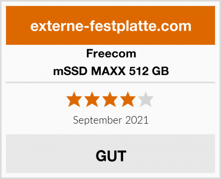 Freecom mSSD MAXX 512 GB Test