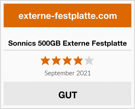 Sonnics 500GB Externe Festplatte Test