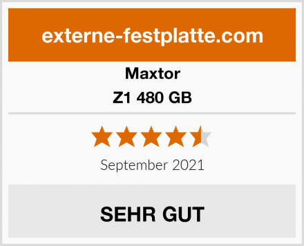 Maxtor Z1 480 GB Test